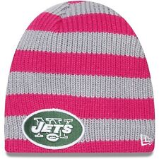 NEW YORK JETS WOMEN NFL NEW ERA CRUTIAL CATCH BREAST CANCER AWARENESS BEANIE CAP