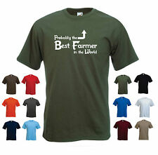 'Probably the Best Farmer in the World' Funny Farming Birthday Gift T-shirt Tee