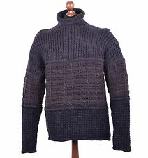 DOLCE & GABBANA Oversize Knitted Knight-Style Sweater Pullover Brown Grey 04097