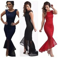 New Sexy Woman's Fishtail Mermaid Elegant Bodycon Long Party Evening Maxi Dress
