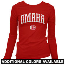Omaha 402 Women's Long Sleeve T-shirt LS - Nebraska OMA Big Red Huskers - S-2X