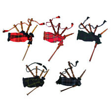 Childrens Junior Playable Miniature Bagpipes - Tartan Bag & Rosewood Pipes