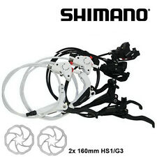 New Shimano M446 M447 Hydraulic Disc Brake Lever Set MTB 160mm Rotors