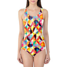 POP Circles Women's Swimsuit XS-3XL One Piece with Removable Padding