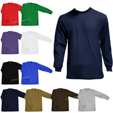 New Mens Plain Thermal Top Long Sleeve Shirts Underwear Waffle Tee