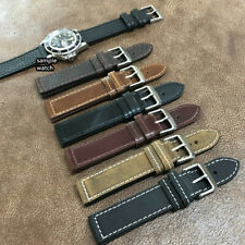 Size 18/20/22mm Pilot Bund Style Genuine Cow Leather Cuff Watch Strap/Band #049