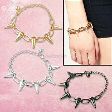 Cool Studs Rivet Spike Link Chain Bracelet Punk Gothic Rock Jewelry Adjust