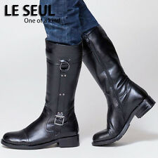 100% Leather -2015 PUNK COOL-Men Fashion Riding Equestrian  honour guard boot