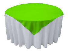 "Tablecloth Overlay Square Polyester 72"" By Broward Linens (Variety of Colors)"
