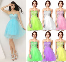 Short Prom Party Graduation Dresses Mini Girls Evening Gowns Crystal Plus Size 2