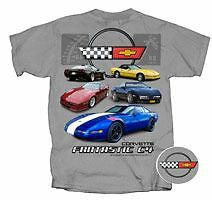 Chevrolet C4 Fantastic Corvette GM Chevy Grey T Shirt