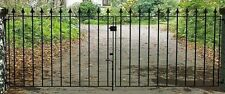 GARDEN METAL GALVANISED  Hebdon  Double Driveway Metal Gates and/or Posts