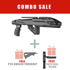 Fab Defense Tactical Stock for Ruger 10/22 w/ Aluminum Rail - UAS R10/22 PRO PTK