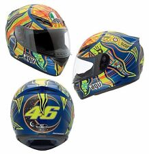 NEW AGV K3 5 Continents Full Face Motorcycle Helmet  Valentino Rossi  FREE SHIP