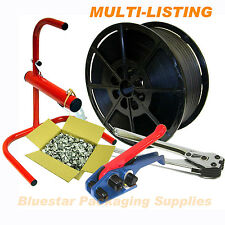 Quality Heavy Duty Hand Strapping Banding Complete Kit Tools Seals etc All Types