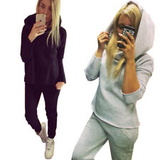 Womens 2Piece Casual Sport Tops Gym Sweatshirt Track Pants Sweat Suits Tracksuit