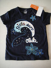 Gymboree NWT TROPICAL BLOOM Girls Surf Club Tee Top Shirt Navy Blue 5 5T 6 7