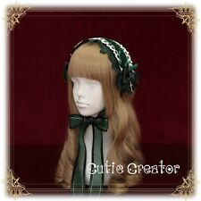 Vintage Punk Gothic Lolita Victoria Lace Bow Cross Headband Hair Band Handmade