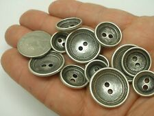 "New Lots Silver Metal Concave Buttons,Blazer jacket, sizes 7/8"",11/16, 5/8 #SG"