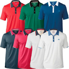 *NEW* 2016 Adidas Mens Climacool Branded Performance Golf Polo Shirt