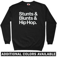 Stunts Blunts Hip-Hop Sweatshirt Crewneck - Rap Music DJ NYC B-Boy - Men S-3XL