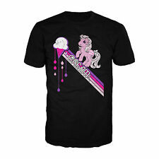 My Little Pony Ice Cream Official Adults Mens Black T-Shirt Retro 80s TV Show