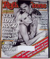 Rolling Stone Magazine 05/10/2001 Pamela Anderson & Tommy Lee Motley Crue