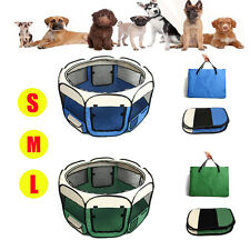 8 Panel Dog Playpen Fence Pet Exercise Crate Cage Puppy Play Pen Enclosure Tent
