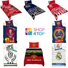 OFFICIAL FOOTBALL SOCCER CLUB SINGLE DUVET SET BED COVER BEDDING QUILT PILLOW