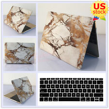 """2in1 Golden Lines Marble Matt Hard Case Cover for MacBook Pro 13""""Air 11""""/13""""inch"""