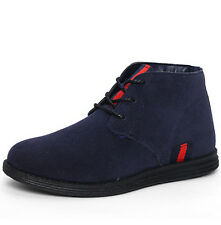 Winter New Mens Faux Suede Casual Lace Up Boots Ankle Desert Trainers Shoes #H69