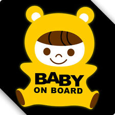 3M Reflective Baby On Board Door Open No Smoking Warning Sign Car Sticker Decal