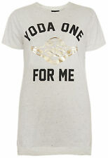 Primark Star Wars T Shirt 'Yoda one for me' Womens Ladies UK 6-20 NEW