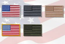 USA American Flag Embroidered Patches 5 Colors Iron on or sewn.
