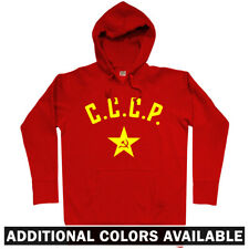 CCCP Star Hoodie - Soviet Union USSR Russian Russian Army Communist - Men S-3XL
