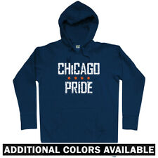 Chicago Pride Hoodie - Bulls Bears Blackhawks Fire White Sox Cubs IL - Men S-3XL