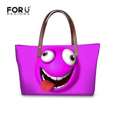 Cute Cartoon Emoji Women Handbag Shoulder Messenger Bag Women Satchel Tote Purse