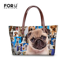 Cute Animals Pug Women Handbag Shoulder Messenger Bag Women Satchel Tote Purse