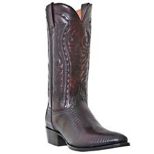 DAN POST Men's Black Cherry Raleigh Genuine Teju Lizard Leather Boots 2352R NIB
