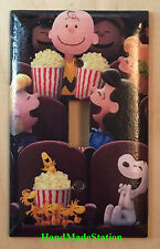 Peanuts Snoopy friends in movie theater Light Switch Power Outlet Cover Plate