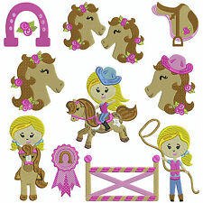 * PONY CLUB * Machine Embroidery Patterns * 10 Designs, 2 Sizes