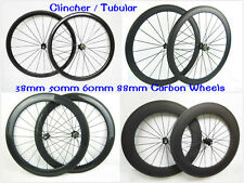 carbon 24mm 38mm 50mm 60mm 88mm tubular or clincher bicycle wheels road bike rim