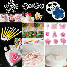 New Fondant Cake Cutter Plungers Cookies Mold Stamp Sugarcraft Flower Decorating