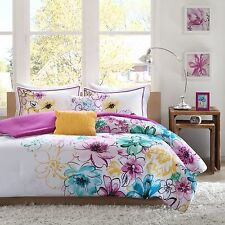 Floral Bedding Set Comforter Shams Decor Pillows Stylish Bedroom Queen King Twin