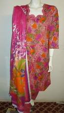 Beautiful 3pcs 100% Cotton Lawn Salwar/Shalwar Kameez & Dupatta Suit M. Size 40""