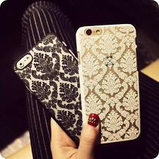 New Hard Back Damask Case Cover for Apple iPhone Models