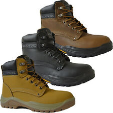 MENS GROUNDWORK SAFETY STEEL TOE CAP BOOTS TRAINERS WORK LACE UP ANKLE SHOES