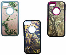 Hybrid Camo Defender Case Cover For Apple iPhone 5C works with otterbox clip