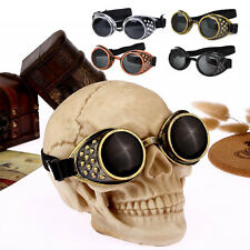 Cyber Punk Vintage Steampunk Goggles Glasses Welding Gothic Rave Lens Cosplay