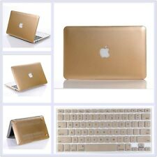"""2in1 Glossy Metallic Gold Hard Case+Keyboard Cover For MacBook Air Pro 11"""" 13"""""""